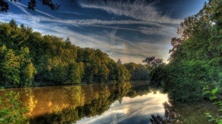 river, germany, landscape