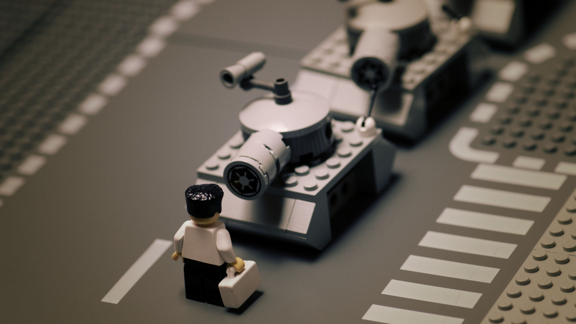 Download wallpaper 1920x1080 road lego tank tanks black white road lego tank voltagebd Image collections
