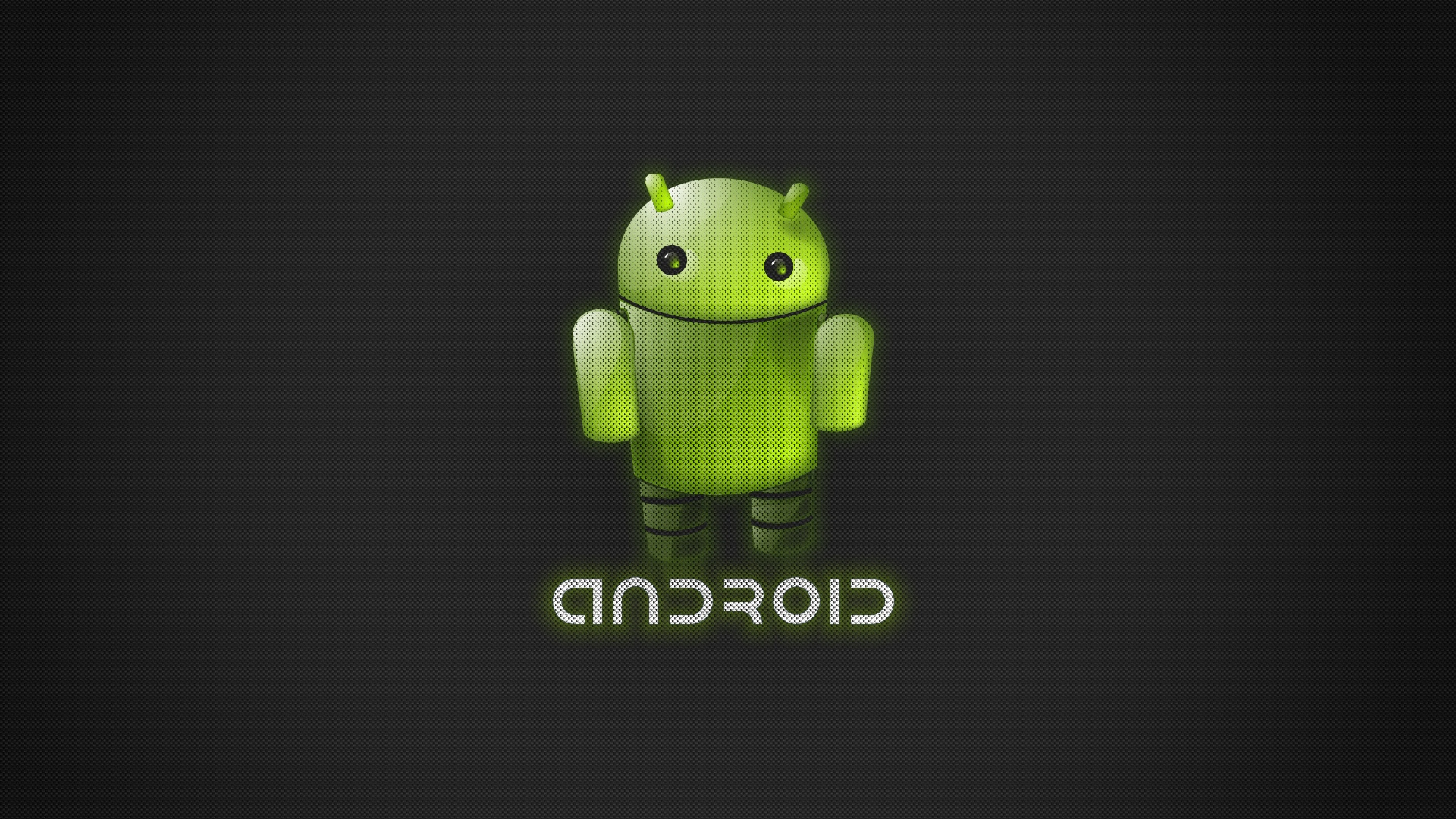 robot green android
