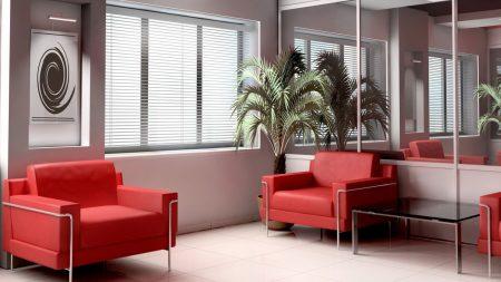 room, design, red