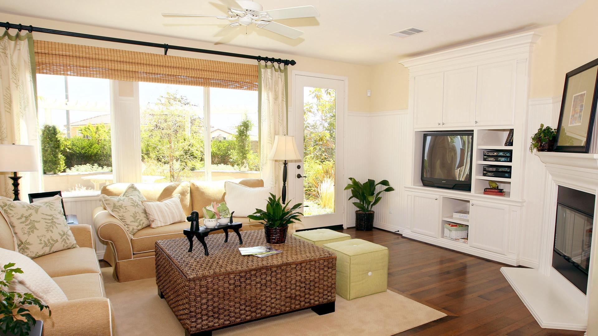 Download Wallpaper 1920x1080 room, living room, tv, sofa ...