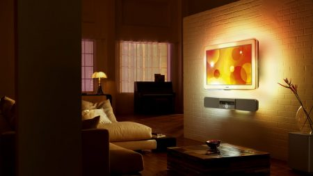 room, sofa, light