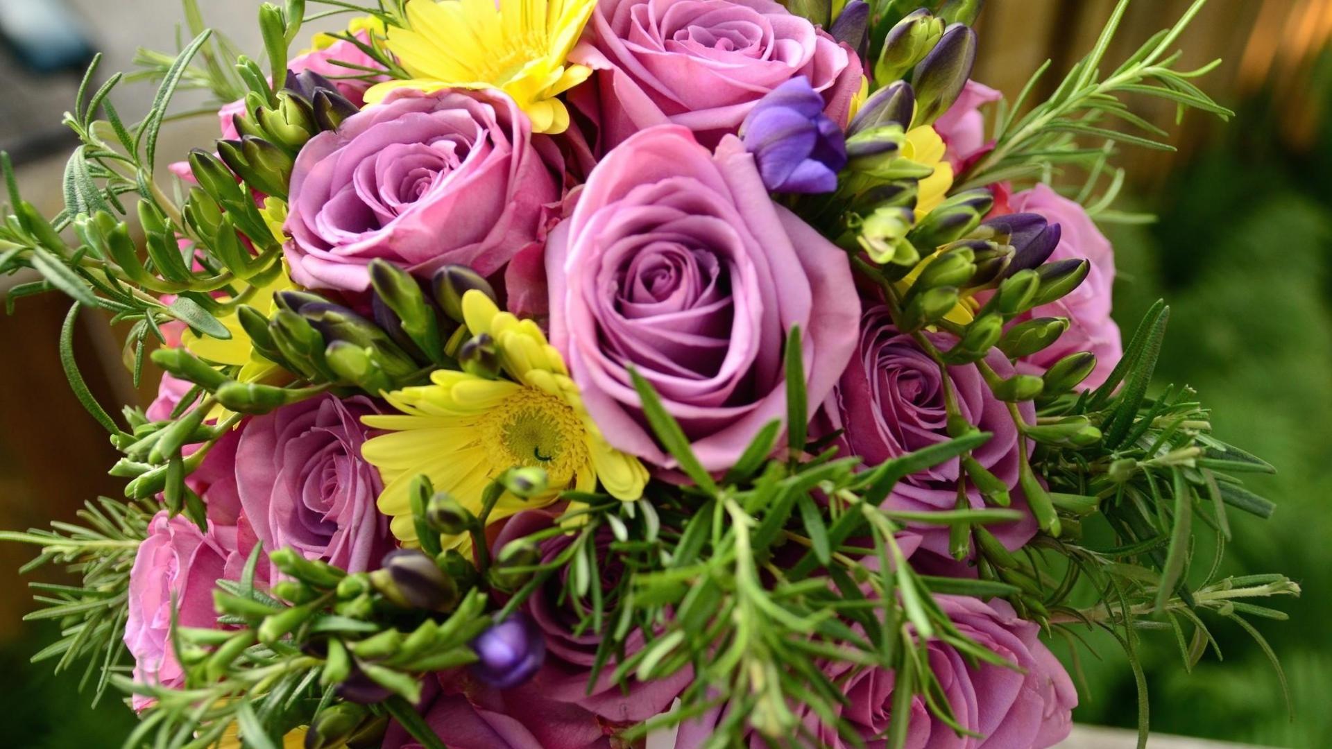 Download wallpaper 1920x1080 roses freesia flowers daffodils roses freesia flowers izmirmasajfo Gallery
