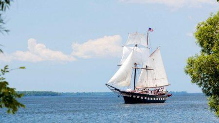 sailboat, white, sail