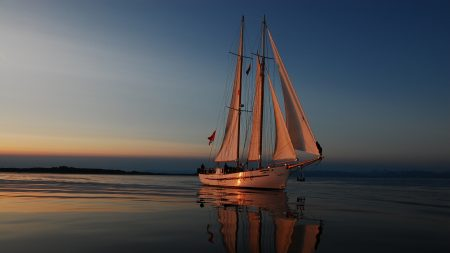 sea??, evening, yacht