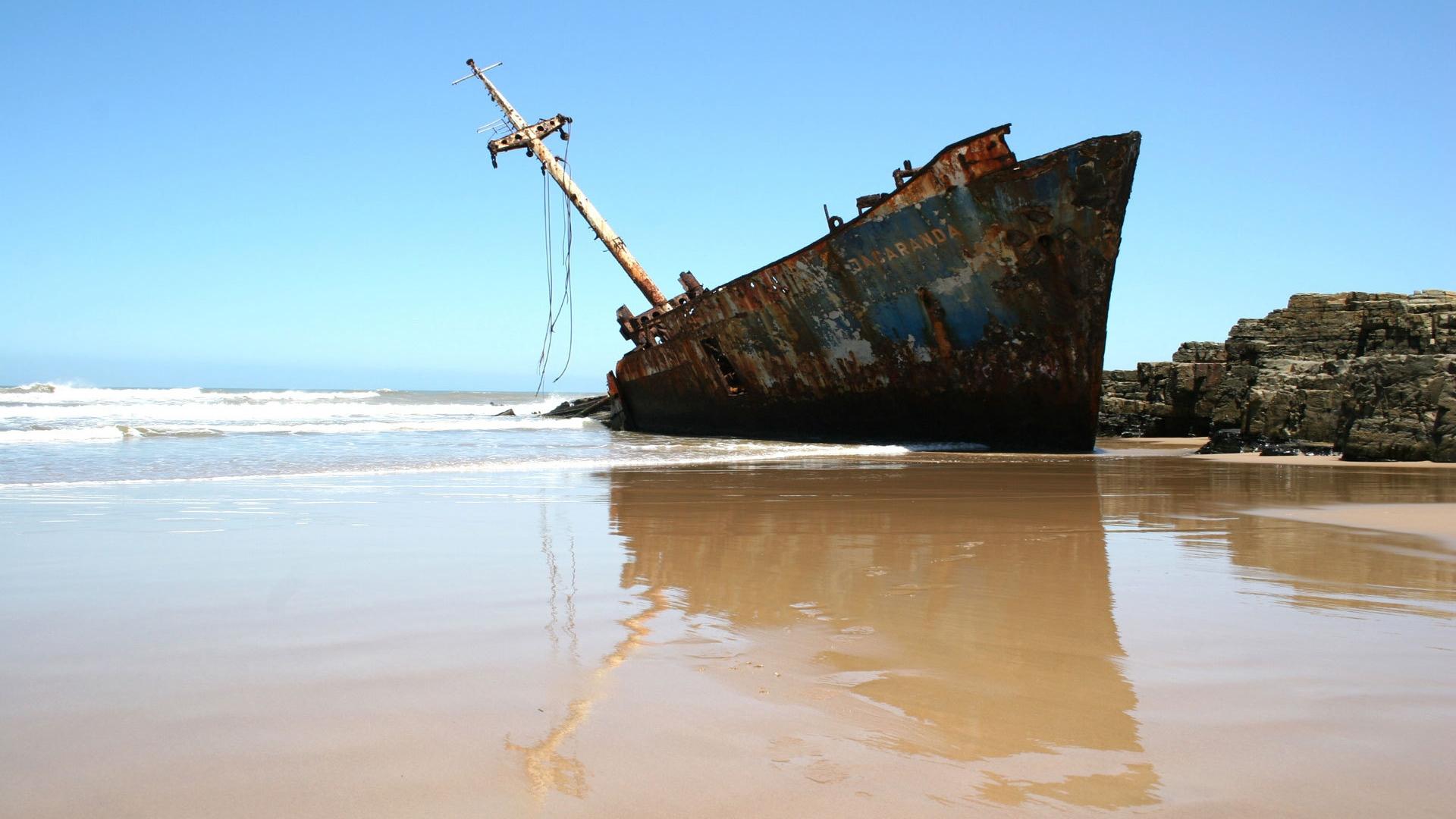 Wallpaper download mast - Download Wallpaper 1920x1080 Ship Fragments Rust Mast Coast Beach Full Hd 1080p Hd Background