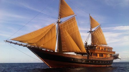 ship, sail, sea