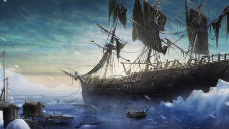 ship, sea, pier