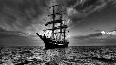 ship, sea, sail