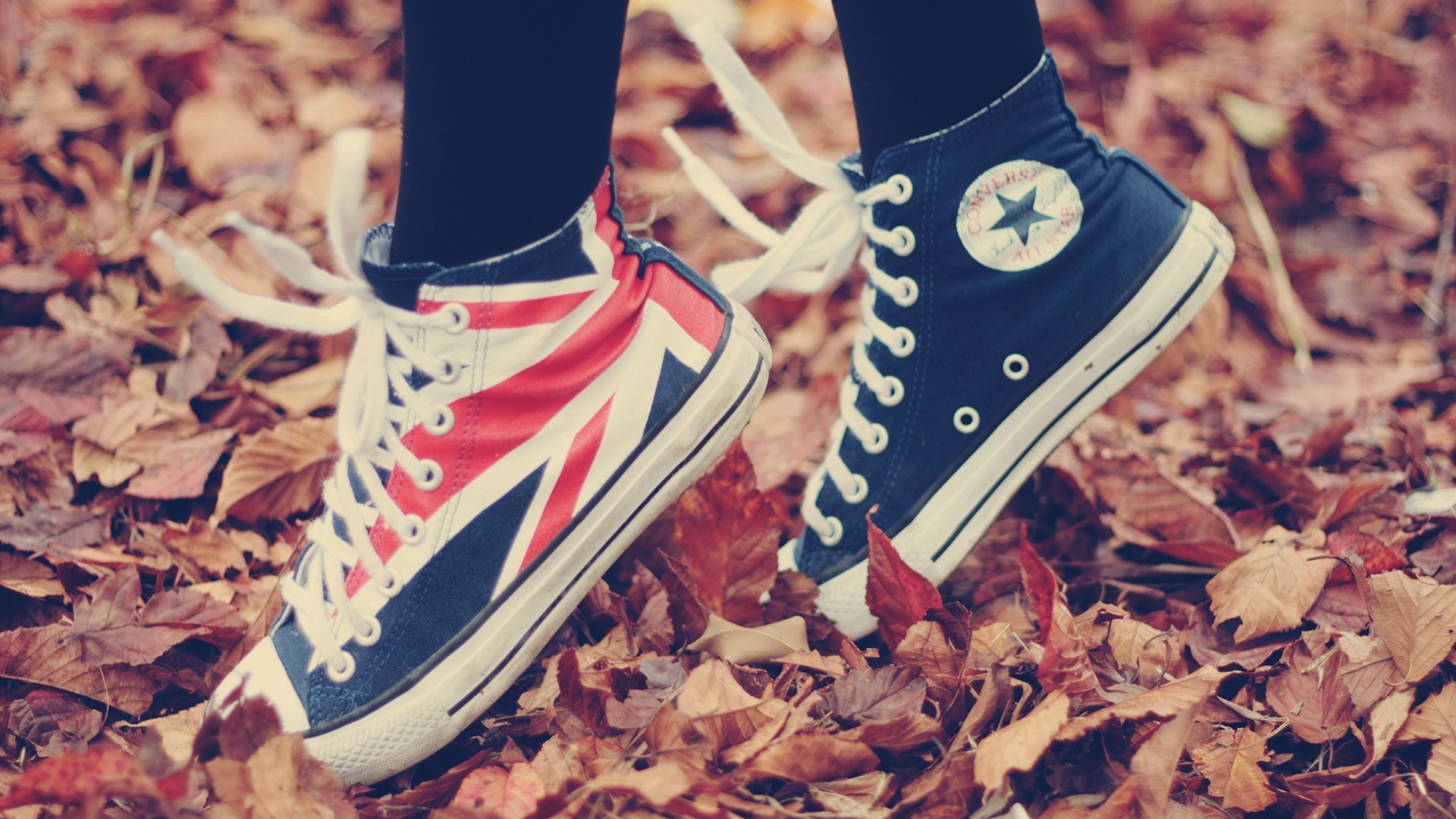 Download Wallpaper 1920x1080 Shoes Sneakers Converse Style Fall