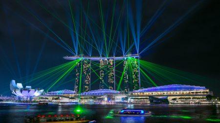singapore, marina bay sands, glare