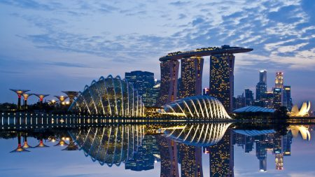 singapore, reflection, sky