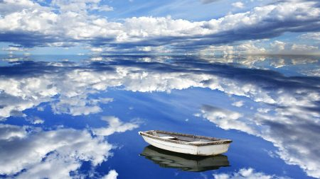 sky, clouds, reflection