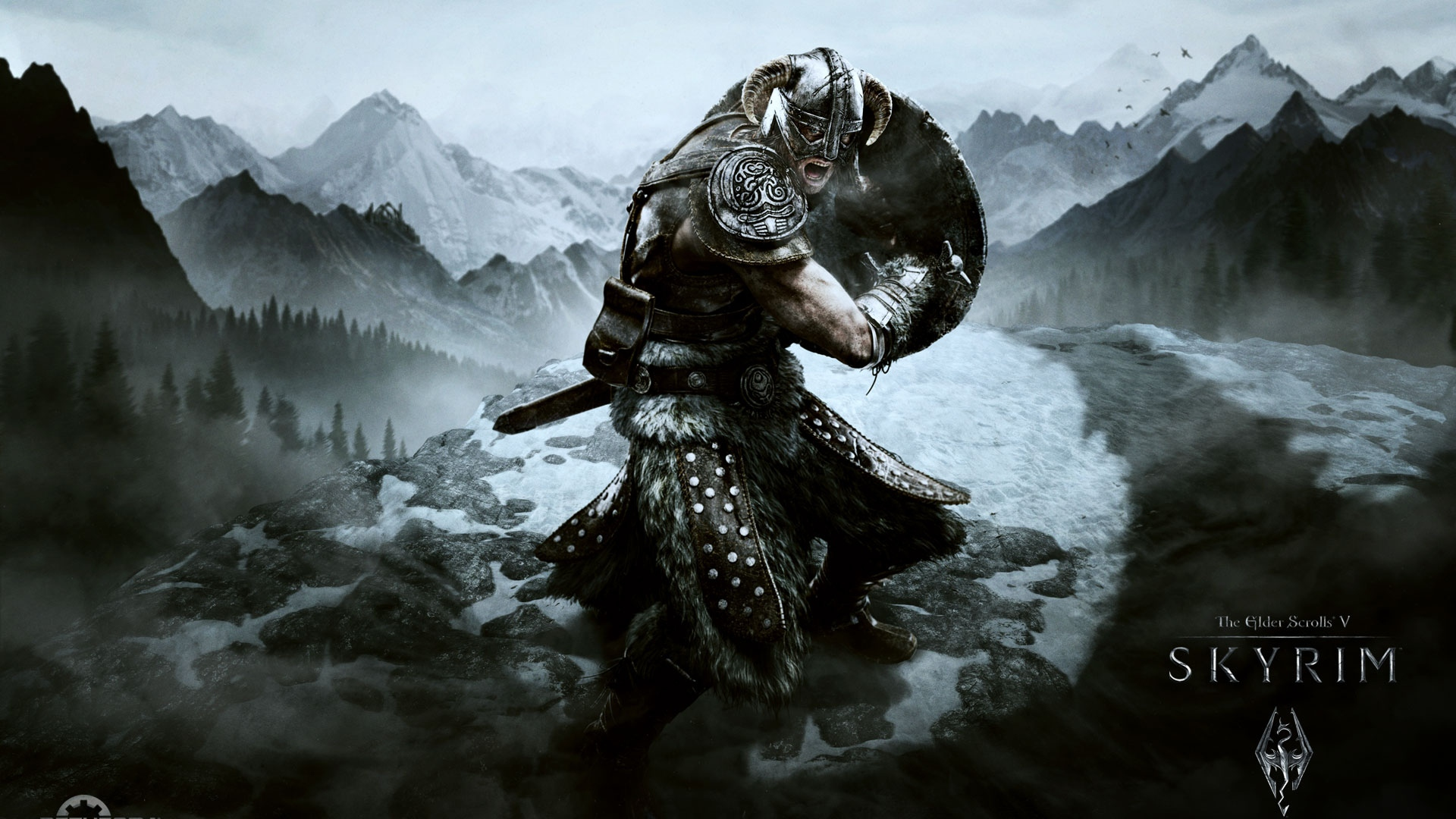 download wallpaper 1920x1080 skyrim, dragonborn, the elder scrolls v