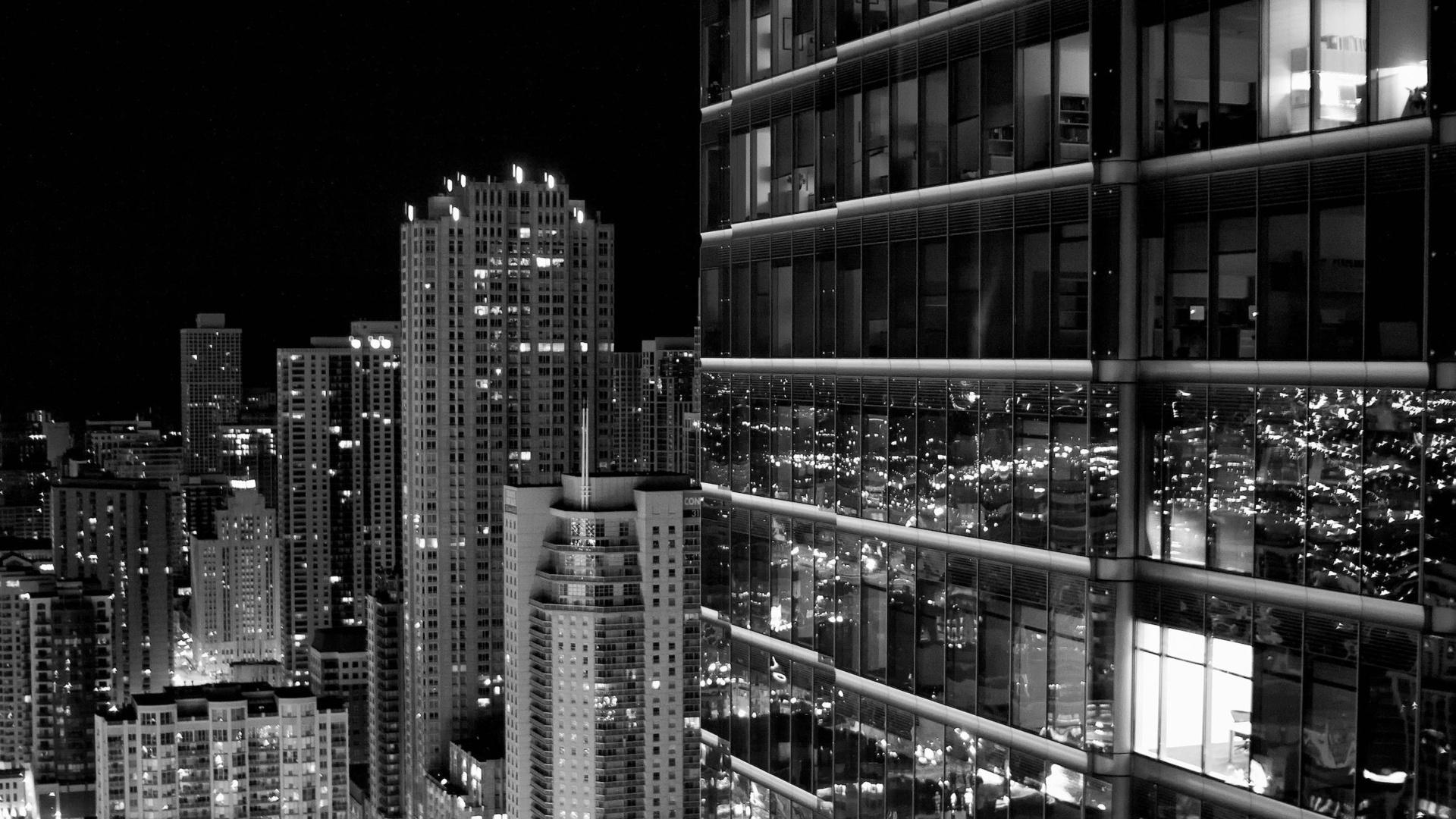 Download wallpaper 1920x1080 skyscraper city black white full hd skyscraper city black white voltagebd Image collections