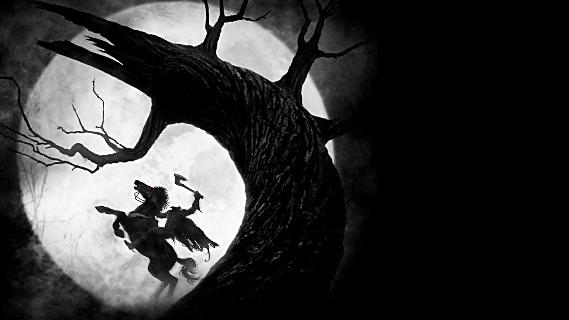 Good Wallpaper Halloween Horse - sleepy_hollow_headless_horseman_moon_tree_3542_1920x1080  Photograph_246371.jpg