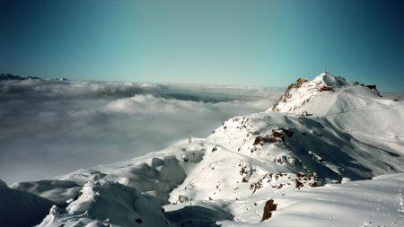 snow, alps, mountains
