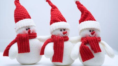 snowmen, three, friends