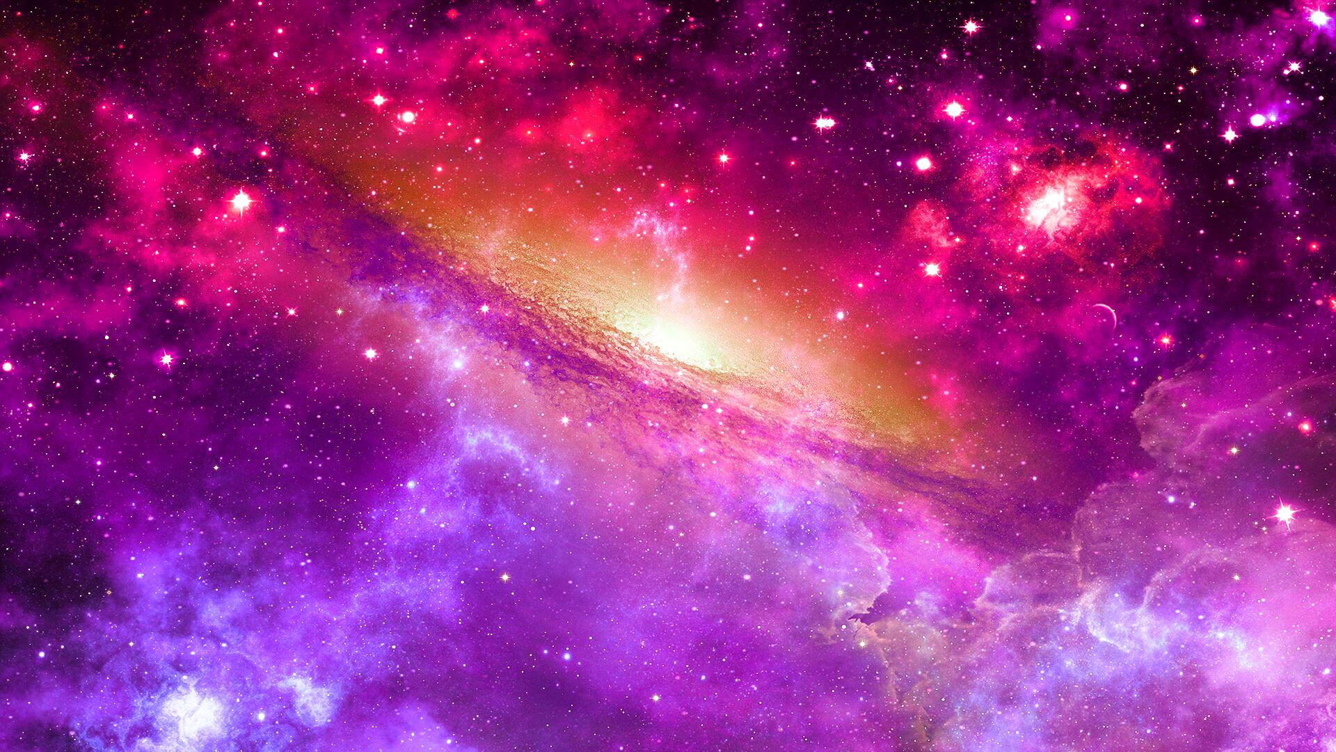 Download Wallpaper 1920x1080 Space Universe Nebula Star Light