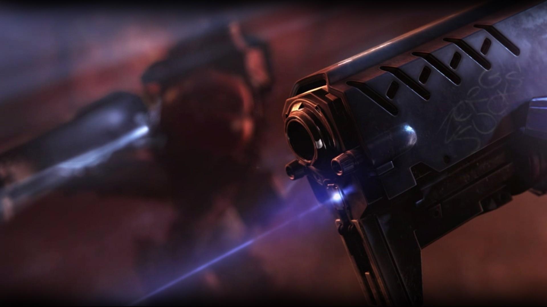 Download Wallpaper 1920x1080 Starcraft Gun Lazer Soldier Full HD 1080p Background