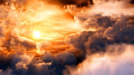 sunset, glow, saturn