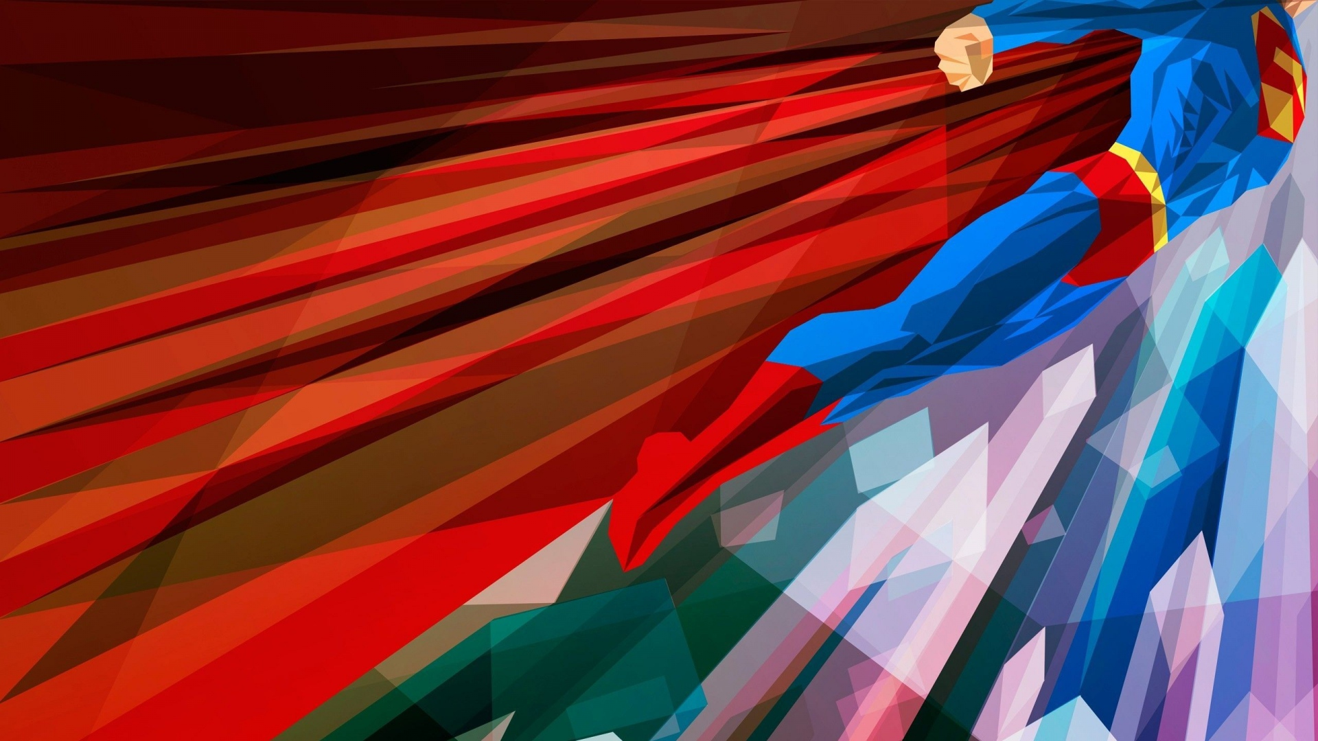 Download Wallpaper 1920x1080 Superhero Superman Bright Full HD