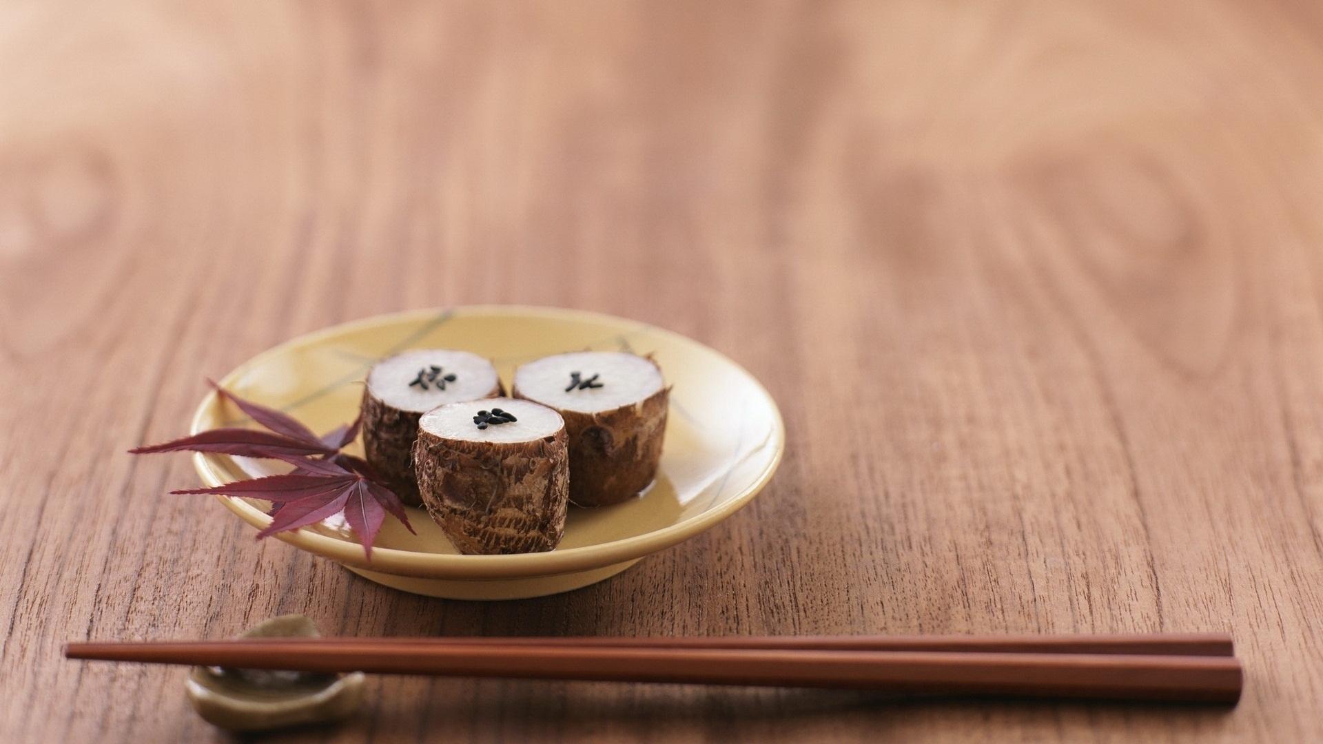 Download Wallpaper 1920x1080 Sushi Sticks Sesame Chinese Cuisine