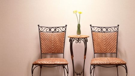 table, vase, chairs