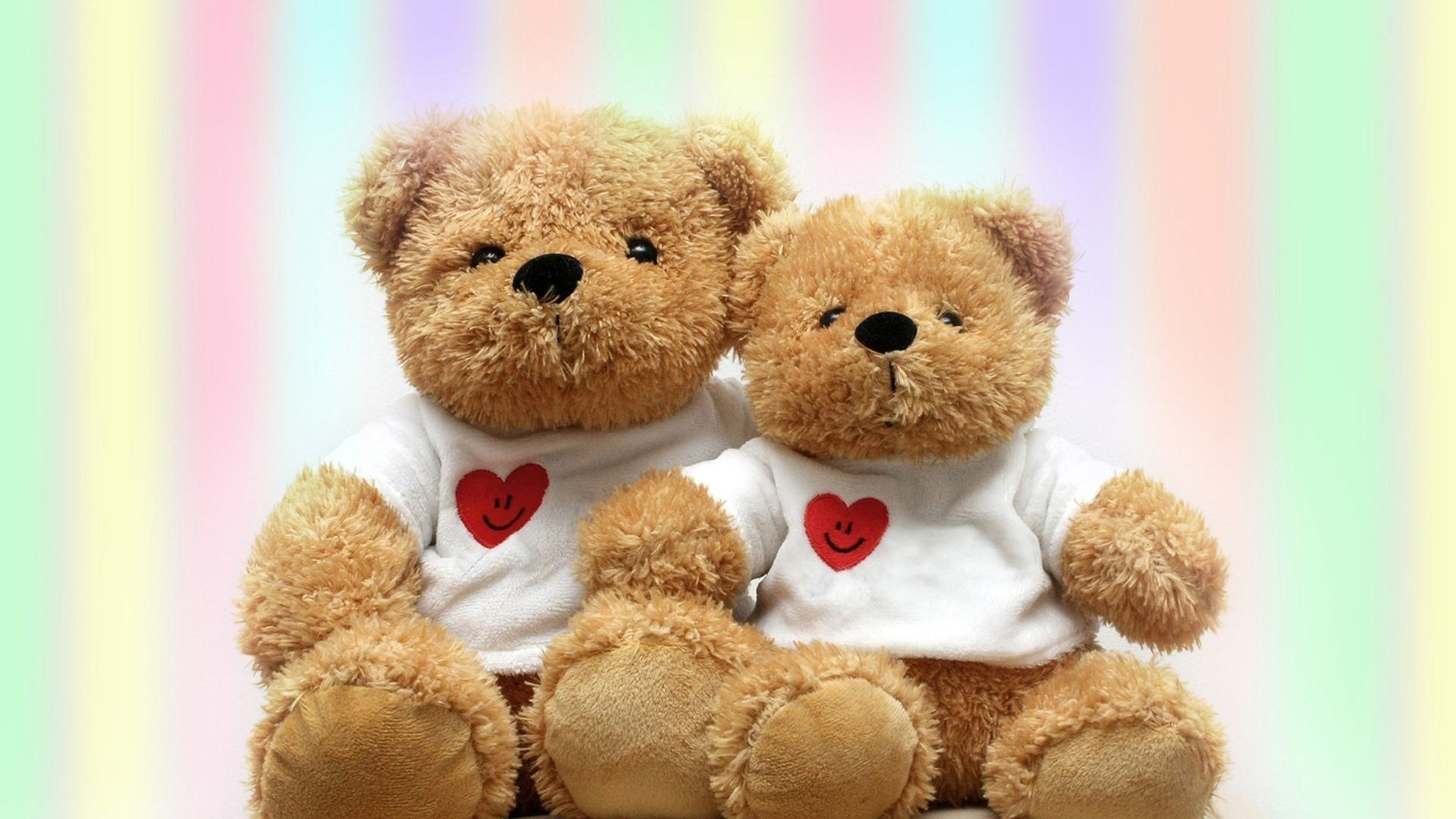 Download Wallpaper 1920x1080 Teddy Bears, Couple, Toys