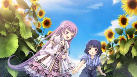 tenshi no hane wo fumanaide, girl, sunflowers