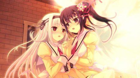 tenshi no hane wo fumanaide, girls, touch