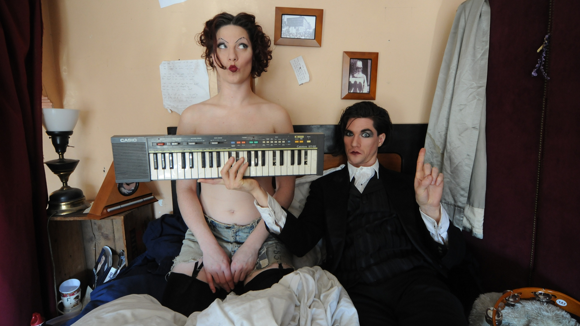 Download Wallpaper 1920x1080 The Dresden Dolls Girl Synthesizer