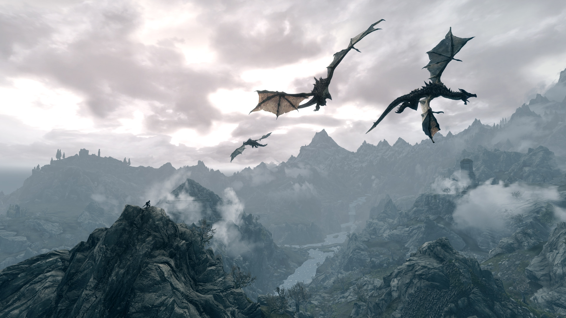 Cool Wallpaper Mountain Dragon - the_elder_scrolls_dragons_fly_mountains_sky_21290_1920x1080  Pictures_142647.jpg