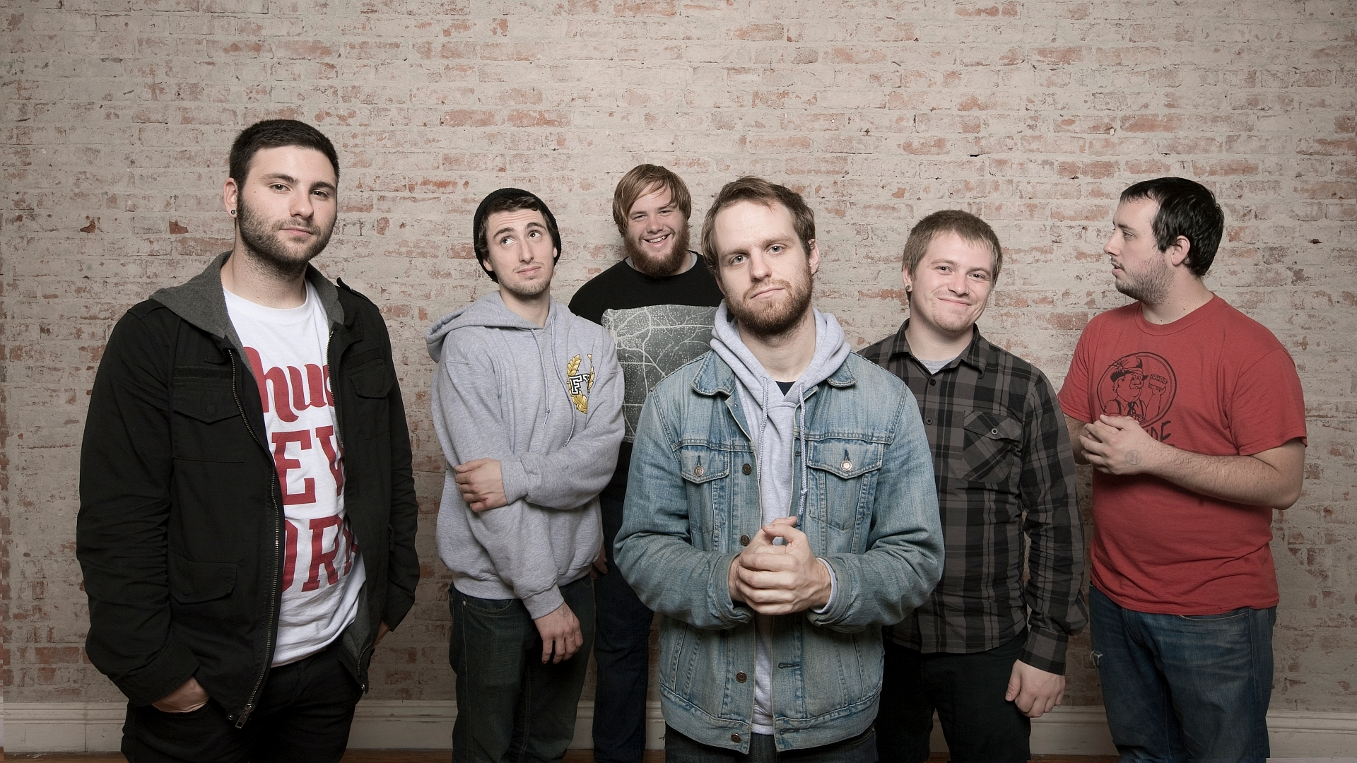 Download Wallpaper 1920x1080 the wonder years, band, wall, clothes, bristle Full HD 1080p HD