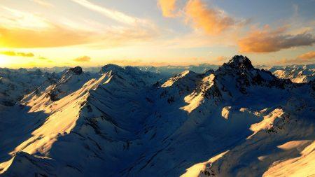 tops, mountains, snow