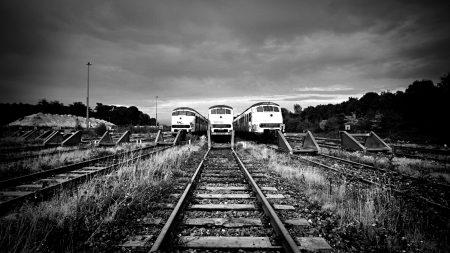 train, railway, rails