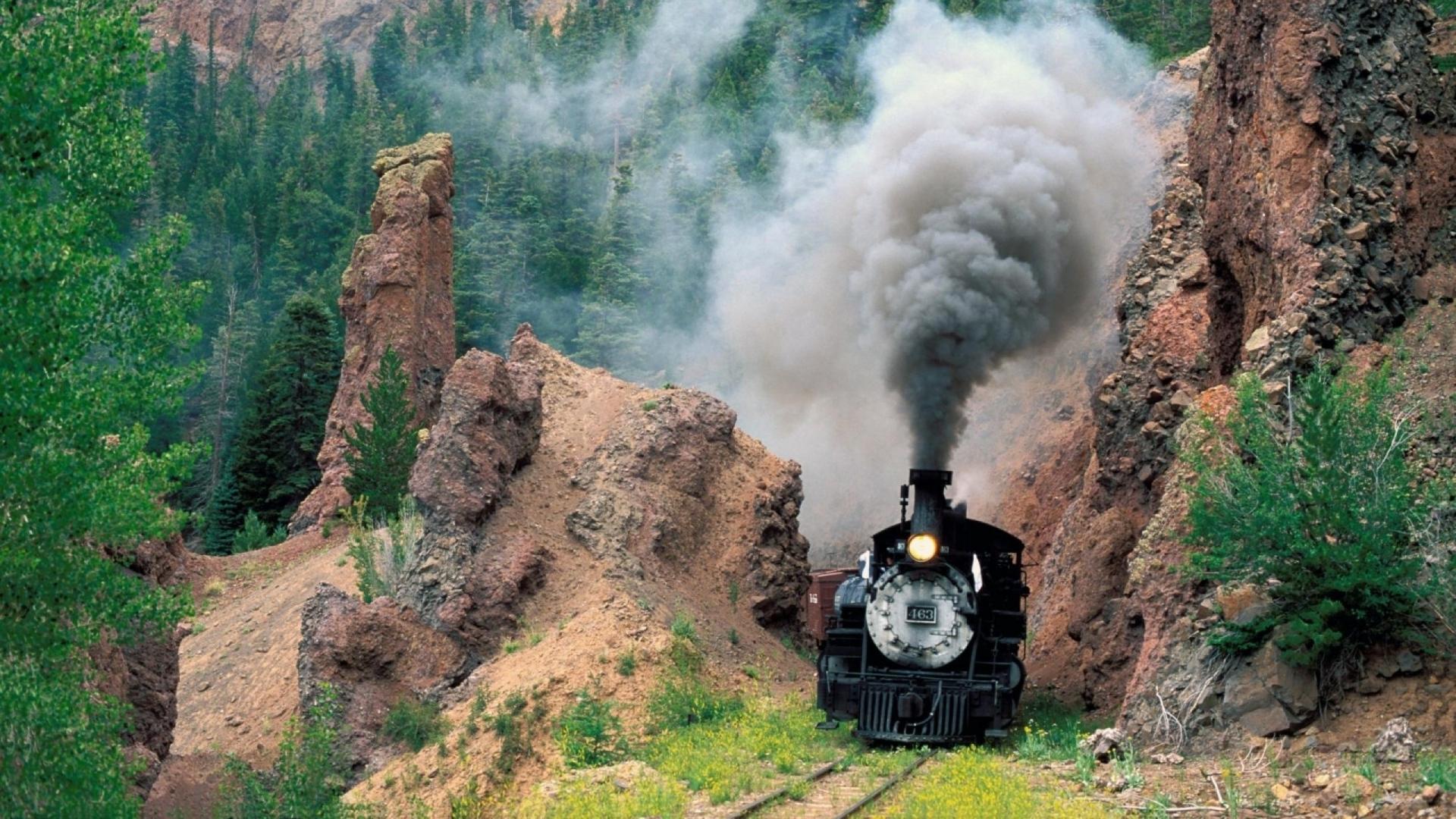 Great Wallpaper Horse High Definition - train_smoke_mountains_grass_79238_1920x1080  Gallery_4350.jpg