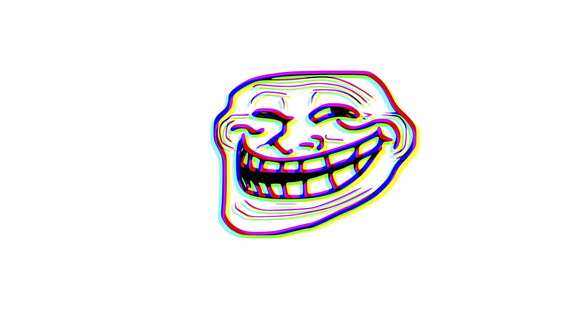 Download wallpaper 1920x1080 trollface troll face comic humour troll 3d anaglyph voltagebd Images