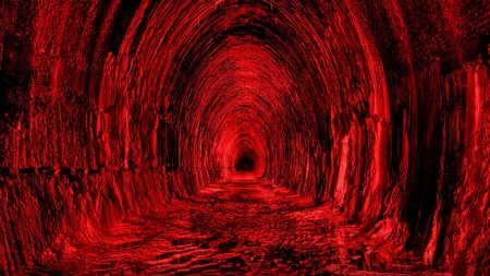 tunnel, red, black
