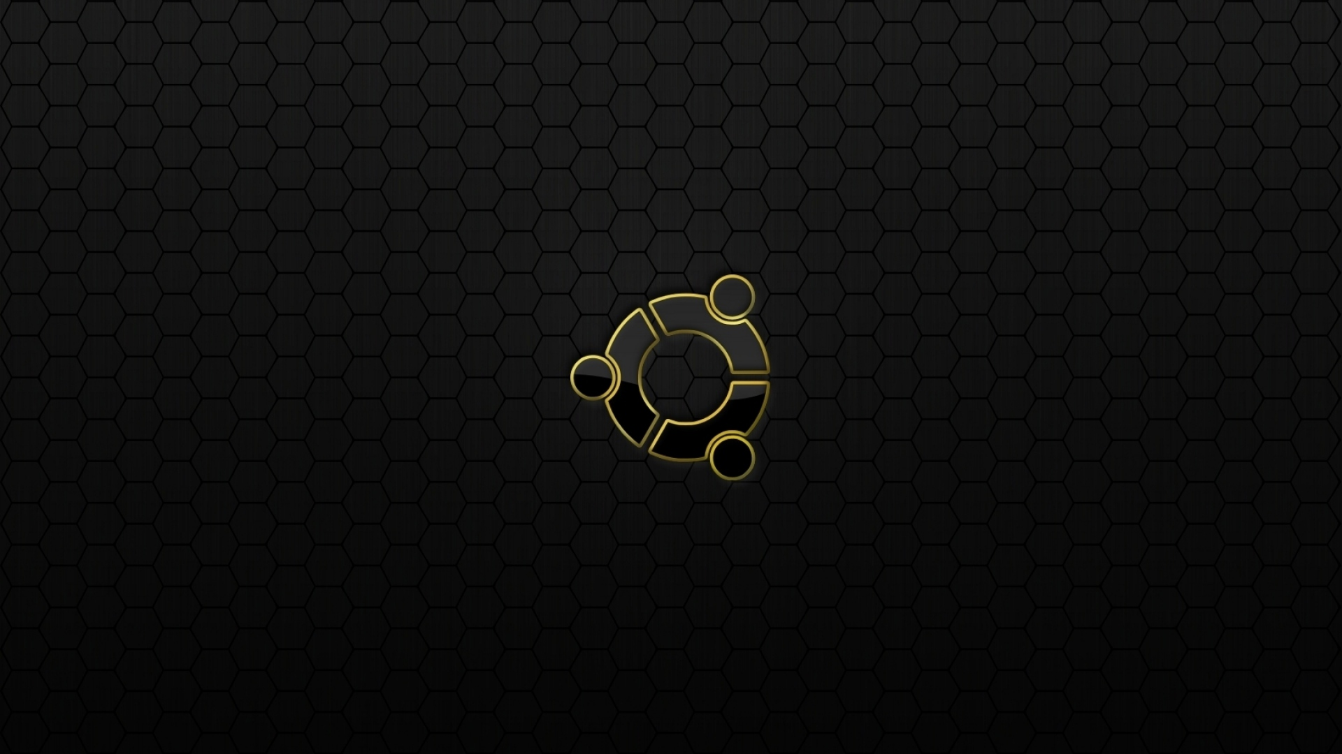 Download Wallpaper 1920x1080 Ubuntu Os Logo Black Yellow Full Hd