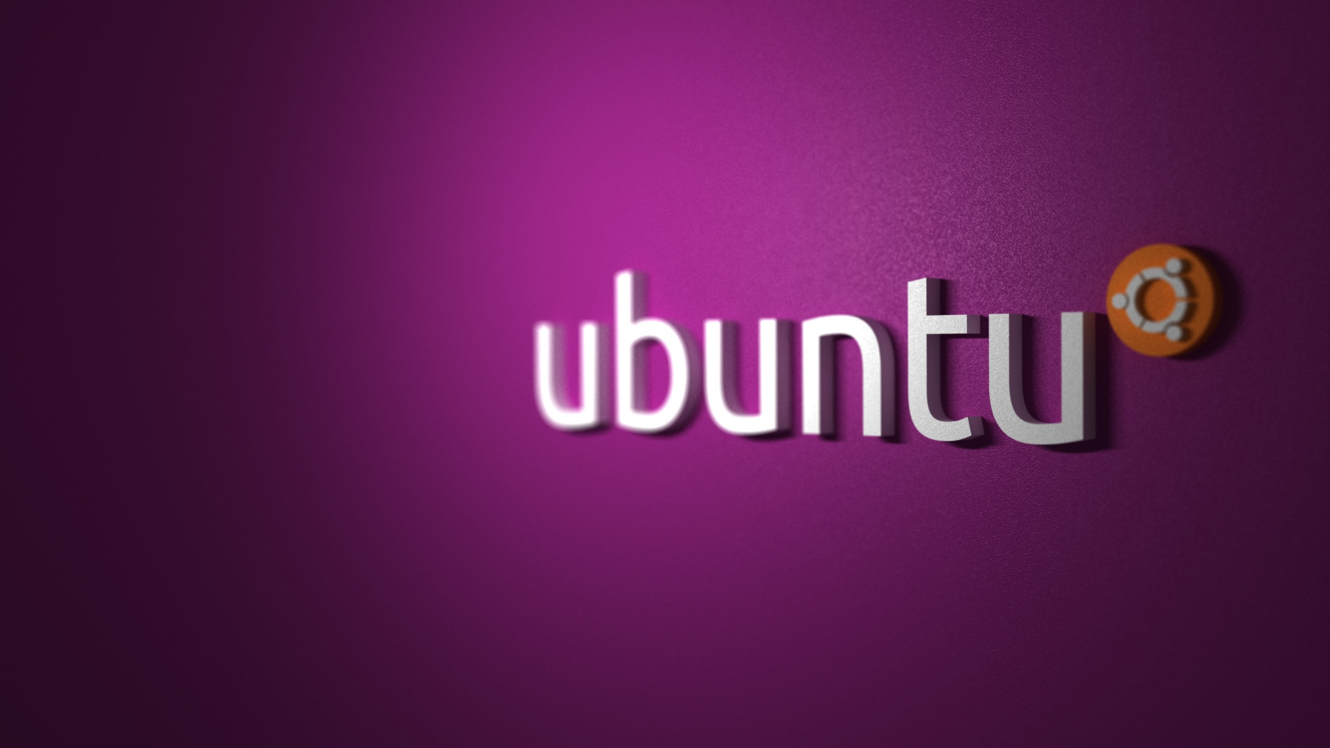 Download Wallpaper 1920x1080 ubuntu, purple, orange, white ...