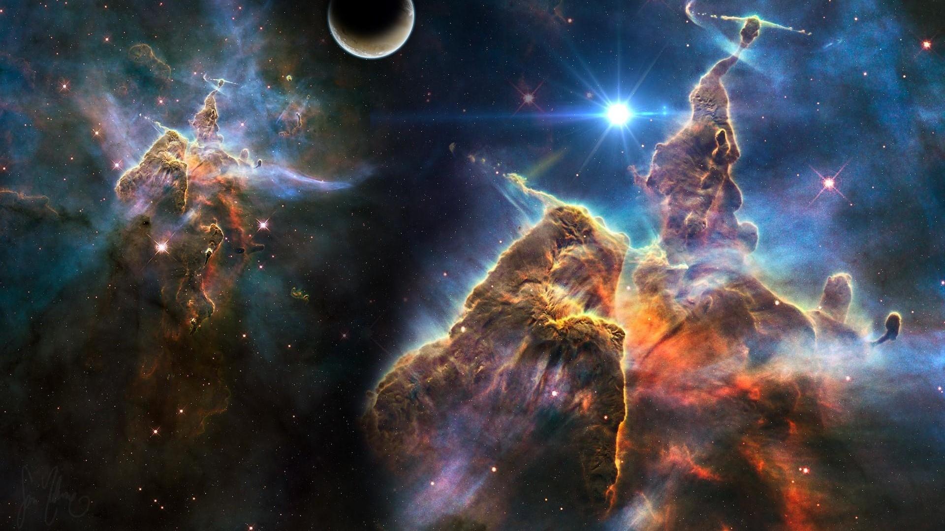 Download Wallpaper 1920x1080 Universe Stars Planets Nebulae