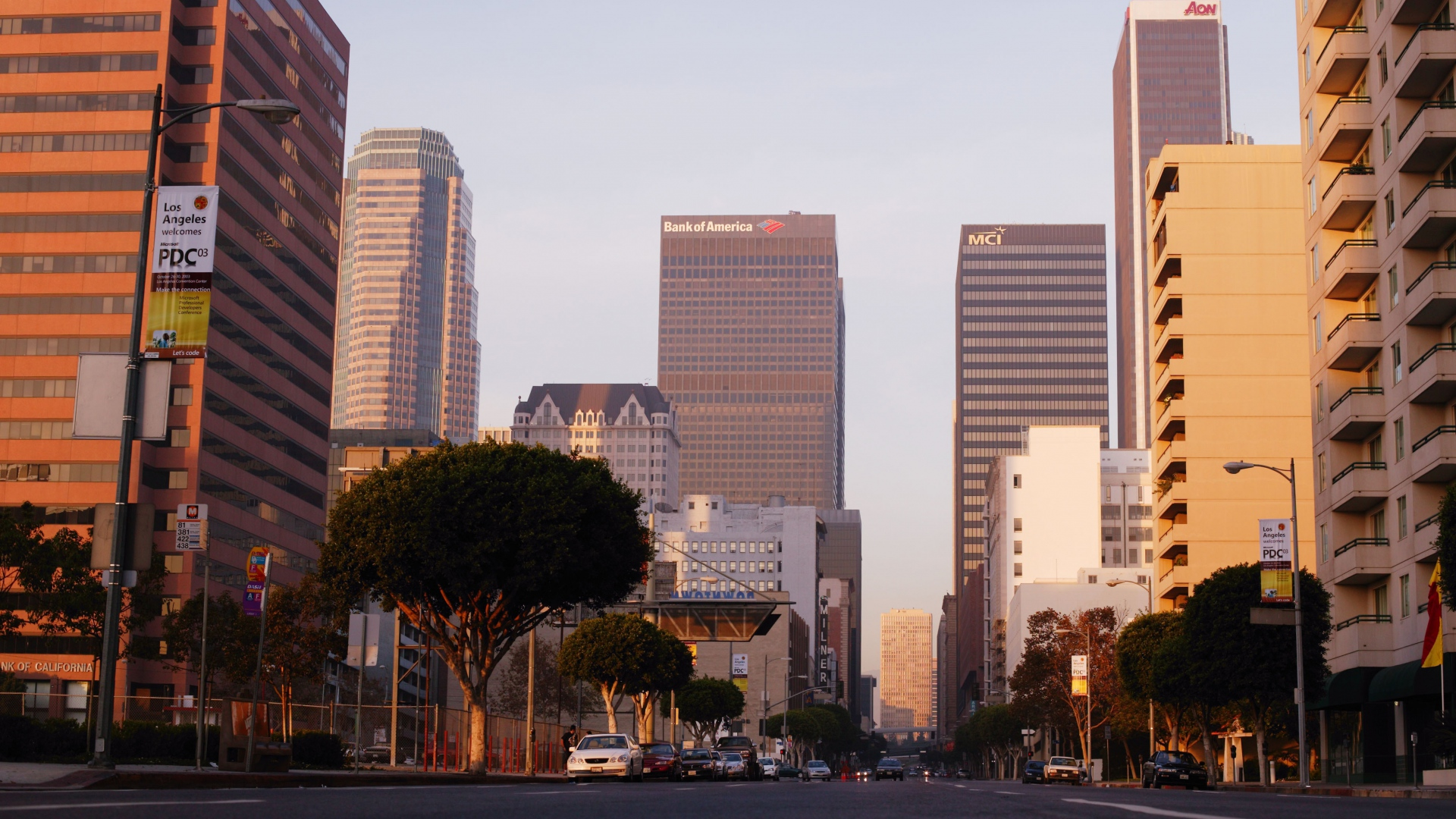 Earnings Disclaimer >> Download Wallpaper 1920x1080 us, city, los angeles, california, sunset, buildings, street Full ...
