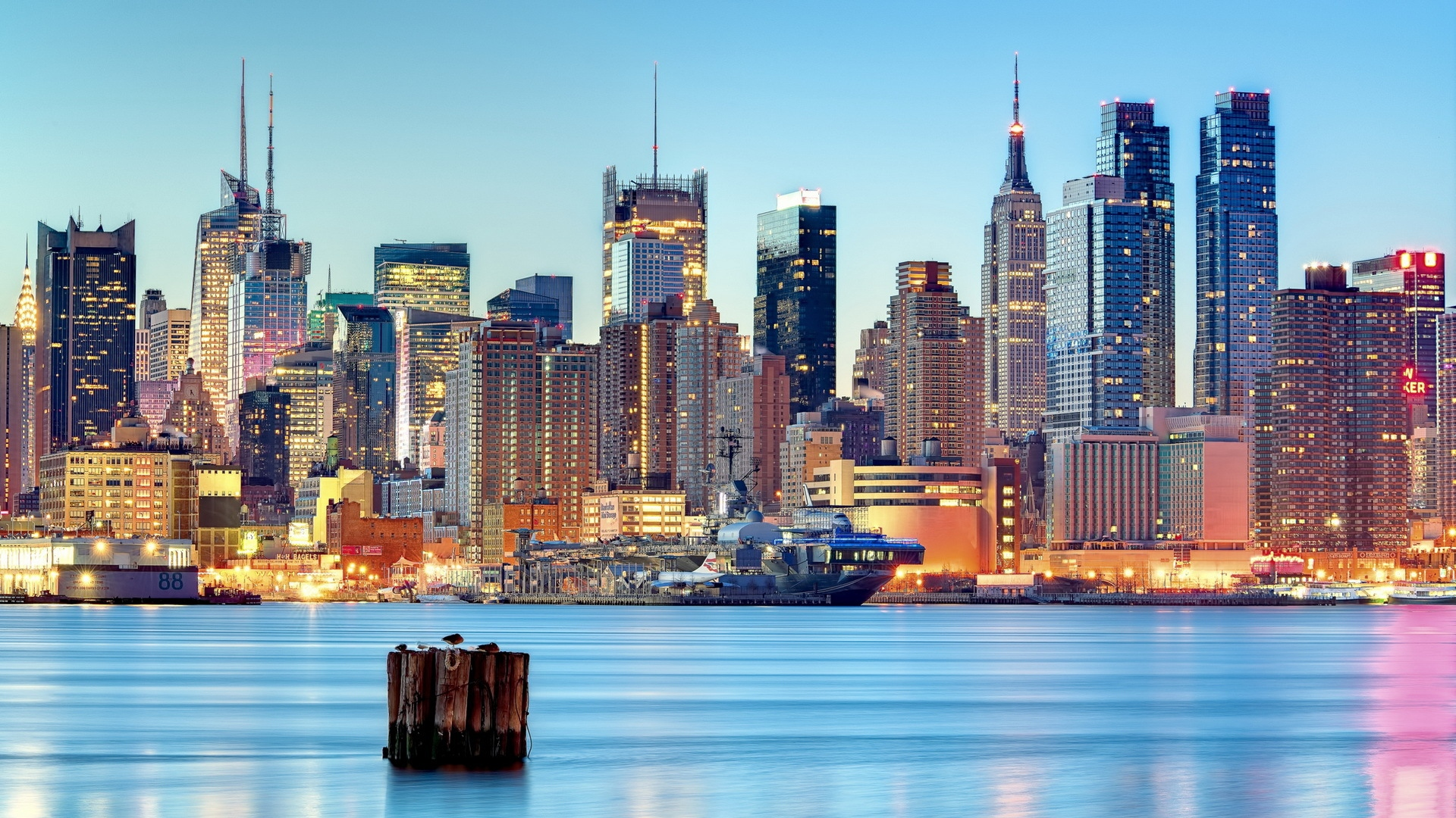 Download Wallpaper 1920x1080 Usa New Jersey Weehawken New York