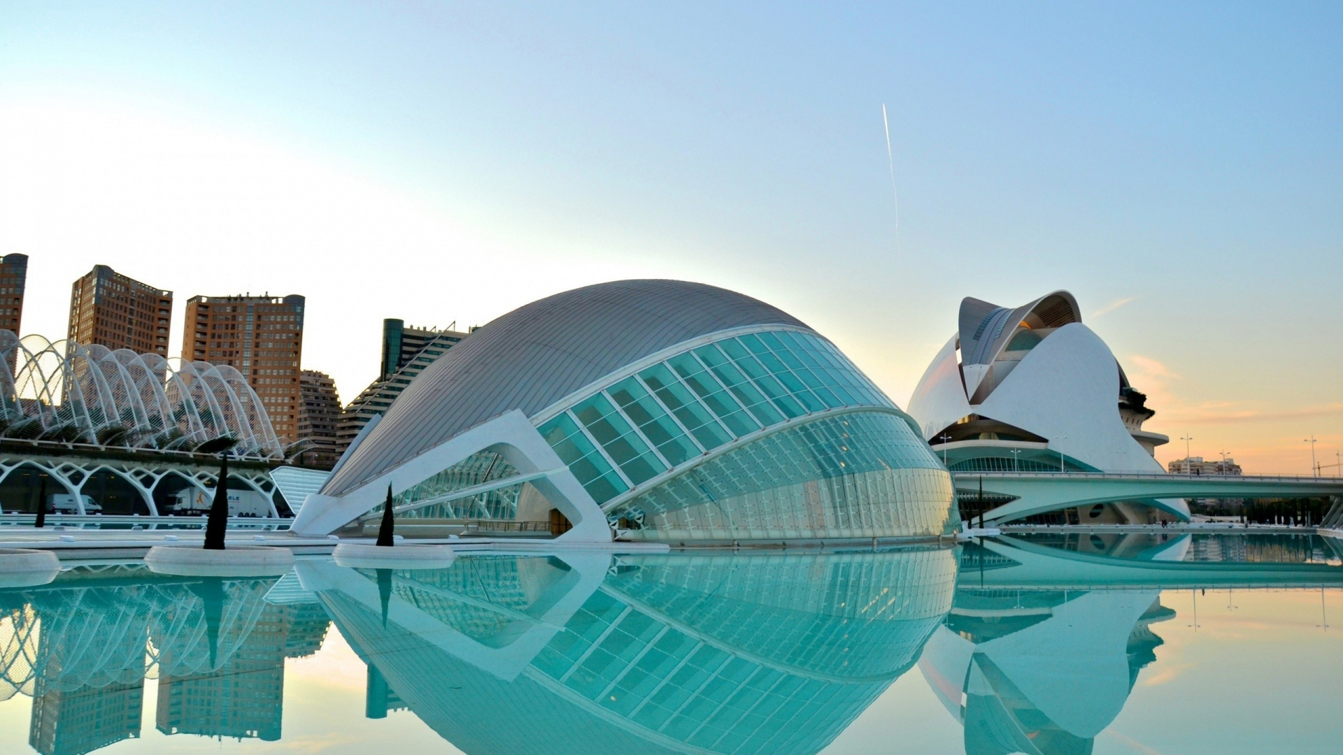Download Wallpaper 1920x1080 Valencia, Architecture