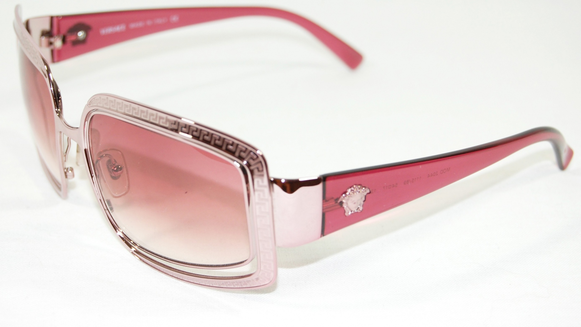 Versace Pink Sunglasses Close Up
