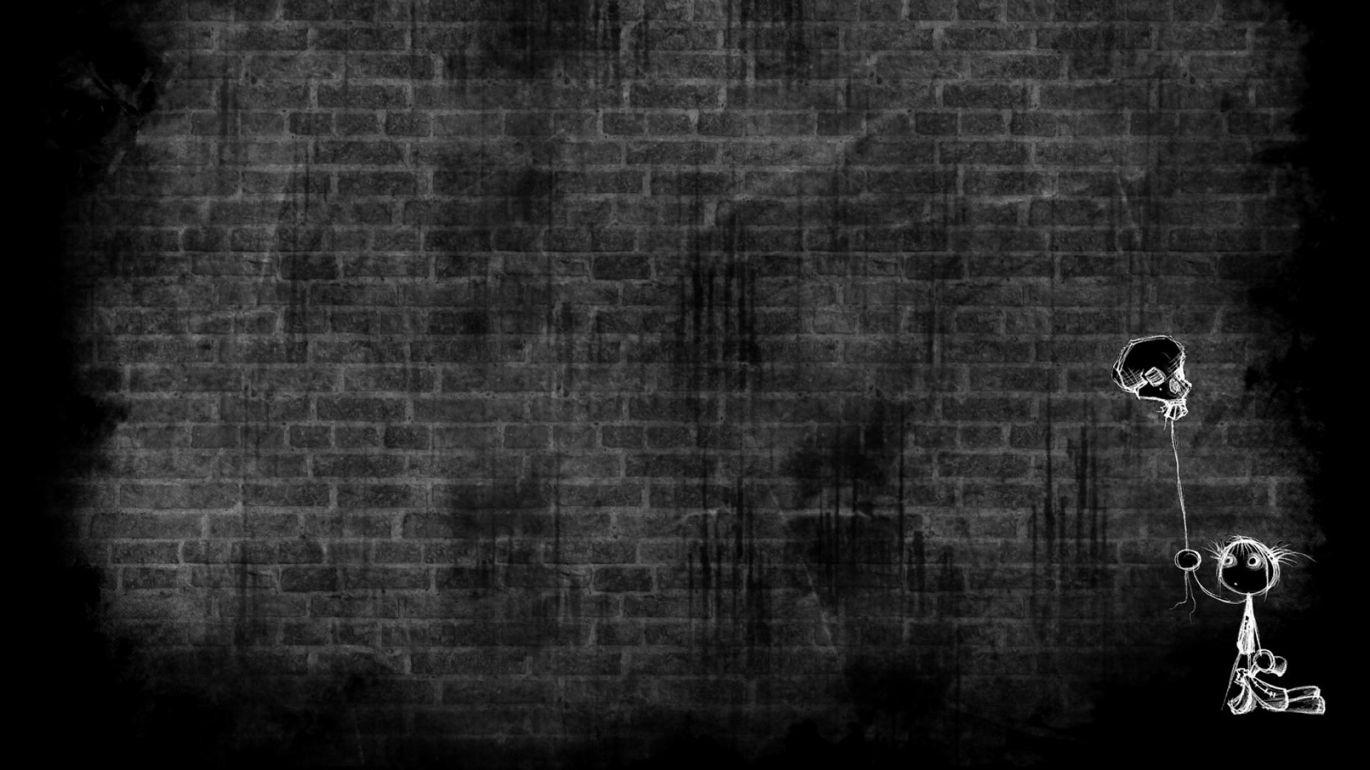 Download Wallpaper 1920x1080 Wall Rocks Brick White Drawing