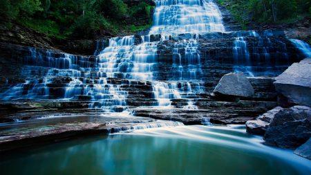 waterfall, river, beautiful
