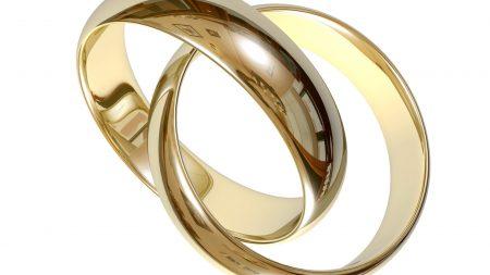 wedding, rings, gold