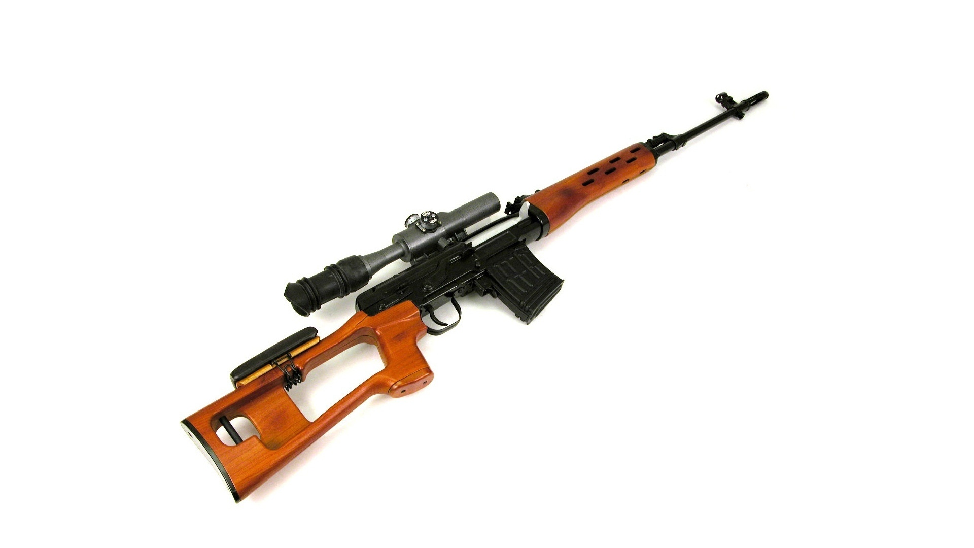 White Background Weapon Svd